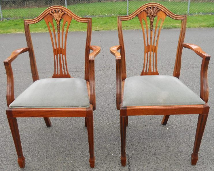 - SOLD - Set Of Six Yew Dining Chairs In Antique Georgian Style